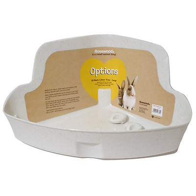 Rosewood Corner Rabbit Litter Tray, Large