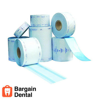 "Sterilization Tube Rolls 2"" 3"" 4"" x 100FT  (Qty-1 Roll of Each Size)"