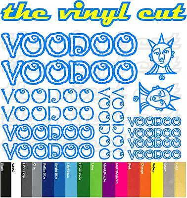 Voodoo Cycles Die-cut decal sheet. (stickers, cycling, mtb, bmx, road, bike)