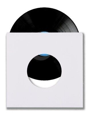 "100 45 RPM 7"" Record Inner Sleeves With Hole Heavy Weight 20# White Paper Acid"