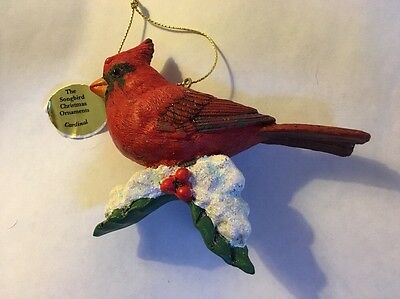Vtg Danbury Mint Song Birds CARDINAL-Christmas Tree Ornament