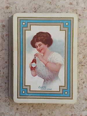 1909 Coca-Cola Wide Advertising Playing Cards - Gibson Girl - Earliest Known!!!!