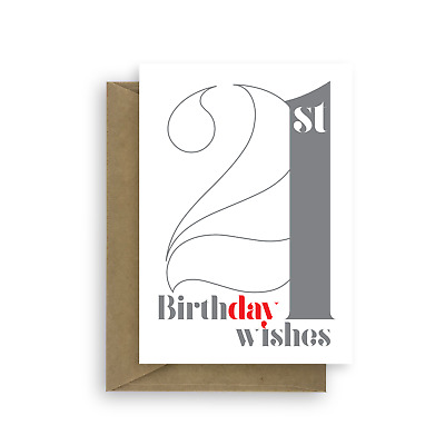 21st Birthday Wishes Card For Boy Girl 21 Him Her Son Daughter