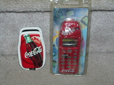 Lot Of 2 Coca Cola Coke Vintage Cell Phone Holders  / Case Older Styles Wow!!!!
