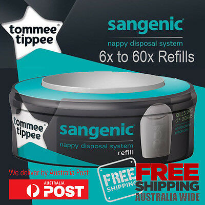 6x 12x 24x 48x 60x Tommee Tippee Nappy Disposal System Refill Fits All Sangenic