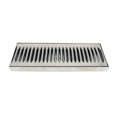 Beer Bar Kegerator Tap Stainless Steel Drip Tray 12 x 5 No Drain Surface Mount