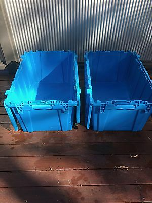 Heavy Duty Storage Tub, Container, Crate, Box.  85L.  Stackable.