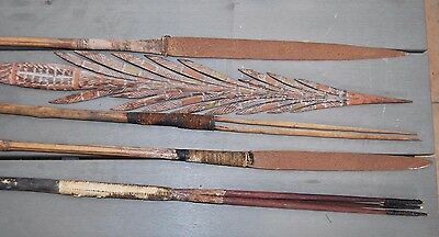 5 exceptional old Northern Australian Aboriginal spears Tiwi Arnhemland c1930