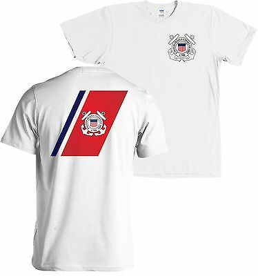 US Coast Guard Flag USCG Seal Front and Back Shirt - NEW