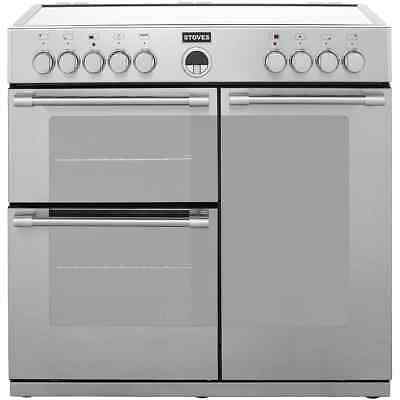 Stoves STERLING900E Sterling 90cm 5 Burners Electric Range Cooker Stainless