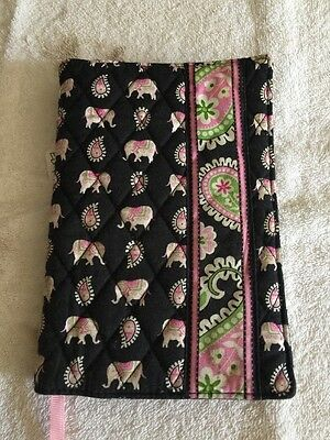 New w/Tags Vera Bradley FABRIC PAPERBACK BOOK COVER in PINK ELEPHANTS