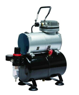 High Performance Mini Airbrush Compressor As186 With Tank, Filter, Manometer !