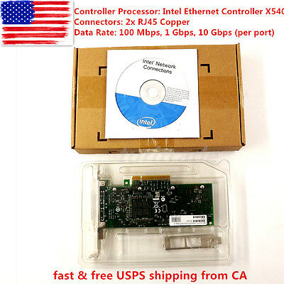 NEW Intel X540-T2 10G Dual RJ45 Ports PCI-E Ethernet Network Adapter NEW CHIP