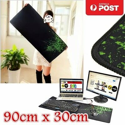 90x30cm PC Computer Desktop Mouse Mat Pad For Wireless USB Gaming Keyboard Mouse