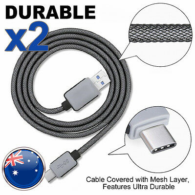 2x OEM USB 3.1 Type-C Fast Data Charger Cable Cord For Google Pixel Samsung S8