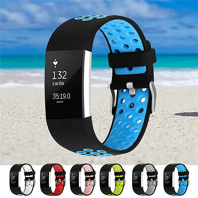 Replacement Smart Band Strap Bracelet Multi-hole Strap for Fitbit Charge 2