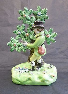Staffordshire Pearlware Pottery Figure of a Sportsman with Bocage