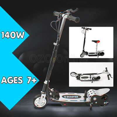 Portable Electric Scooter 140W Adjustable Foldable for Adults/Kids with Seat