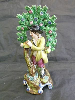 Staffordshire Pearlware Pottery Figure of a Tree Grafter with Bocage