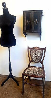 Victorian Ebonised Wall Hanging Cabinet