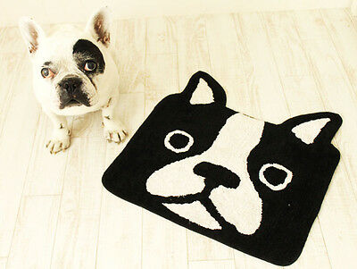 Frenchie French Bulldog Black Head Entrance Door Mat Home decor interior bully