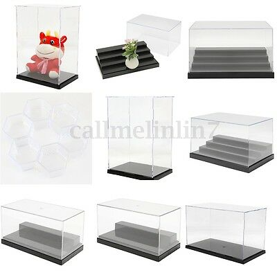 5 Size Clear Acrylic Display Show Box Case Dustproof Tray Protection Decor