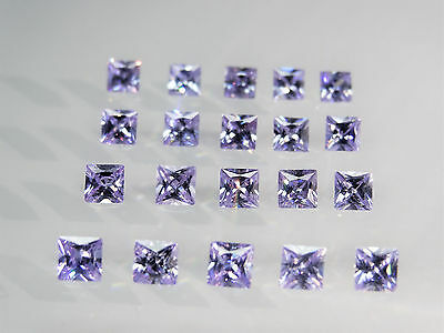 Lavender Square Princess Cut Stones SIZE CHOICE Cubic Zirconia Loose Gemstones