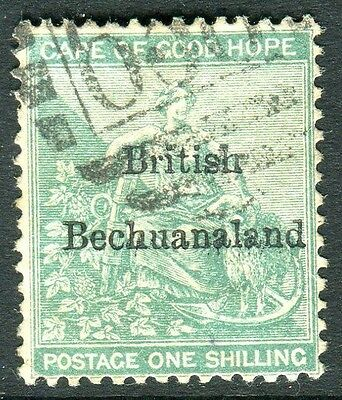 BECHUANALAND-1886 1/- Green.  A fine used example Sg 8