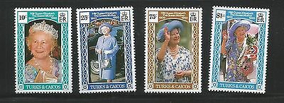 Turks & Caicos 1990 Queen Mother set unmounted mint as per scan