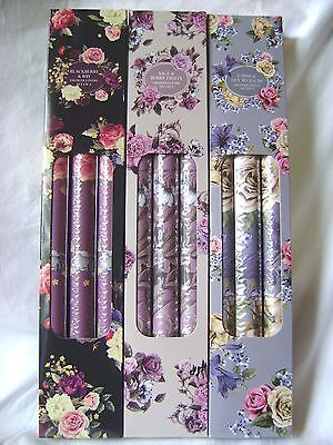 New 9 Scented Drawer Liners Painted Floral Pattern Berry Cassis Sil Rf0005 3 Box