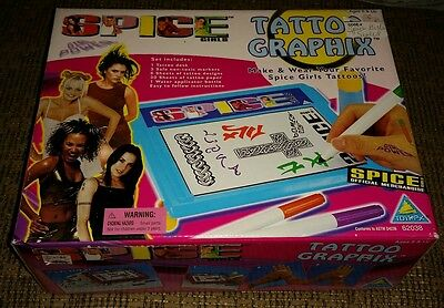 SPICE GIRLS TATTOO GRAPHIX brand new factory sealed in original box MUSIC SINGER