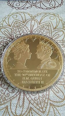Queen Elizabeth II - 90th Birthday Jumbo Sized Commemorative Strike Coin - 2016