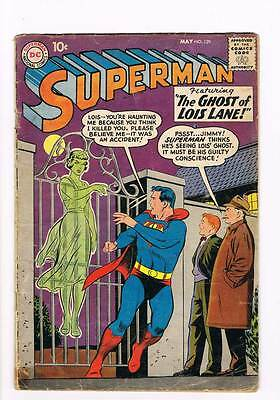 Superman # 129 The Ghost of Lois Lane ! grade 2.5 scarce book !!