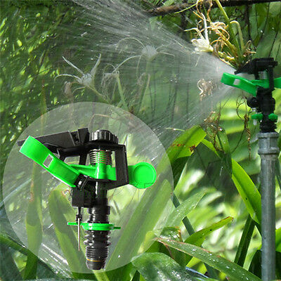 360° Adjustable Water Sprayer Lawn Rocker Rotating Sprinkler Garden Nozzle DN15