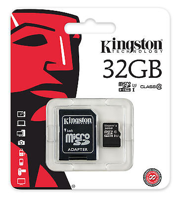 KINGSTON 32 GO MICRO SD CLASS 10   with ADAPTATEUR