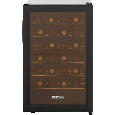Baumatic BW28BL Free Standing Wine Cooler Fits 28 Bottles Black New from AO