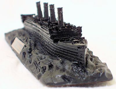 Titanic White Star Line Coal Model Hand Crafted in the UK