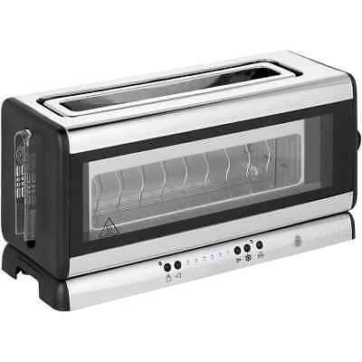Russell Hobbs 21310 Glass Line 2 Slice Toaster Silver / Black New from AO