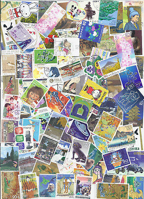 Japan Collection Packet 100+ Used Commemoratives With Many Recent