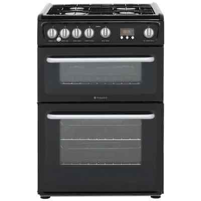 Hotpoint HARG60K Ultima Free Standing Gas Cooker with Gas Hob 60cm Black New