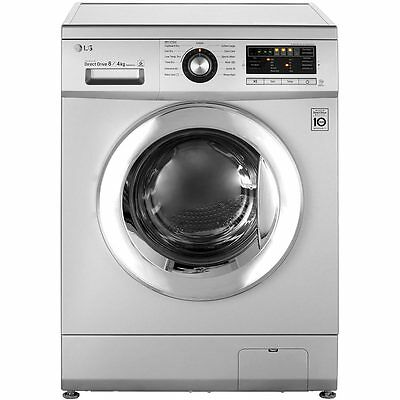 LG FH496AD5 8Kg Direct Drive Free Standing 8Kg Washer Dryer Silver New from AO