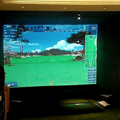 Golf Simulator Impact Display Screen (9.8'x3.3') Z16B8 Hitting Net For Training