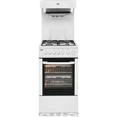 Beko BA52NEW Aspen Free Standing Gas Cooker with Gas Hob 50cm White New