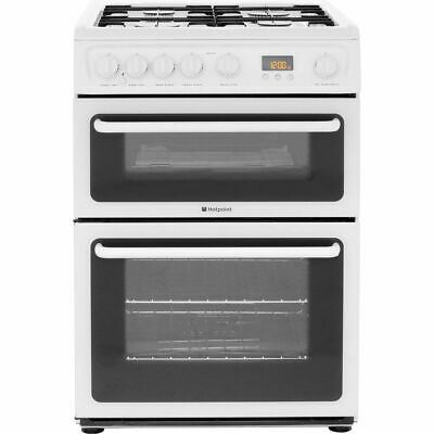 Hotpoint HAG60P Free Standing Gas Cooker with Gas Hob 60cm Polar White New