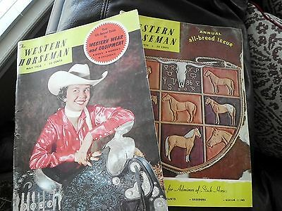 Lot of 2 Issues 1958 - Western Horseman - May / October  BB