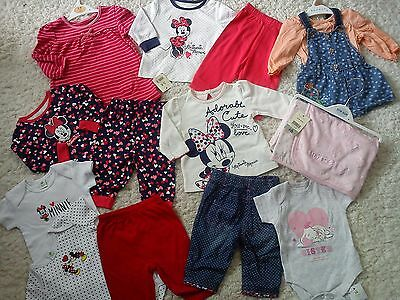 ***AMAZING**30x NEW BUNDLE OUTFITS MINNIE MOUSE BABY GIRL 0/3 MTHS 3/6M (2.2)K