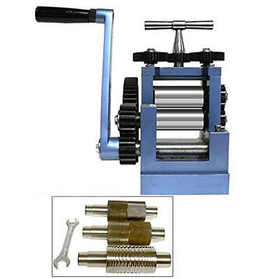 "3"" 80mm Rolling Mill & 5 Metal Rollers Jewelers Tool"