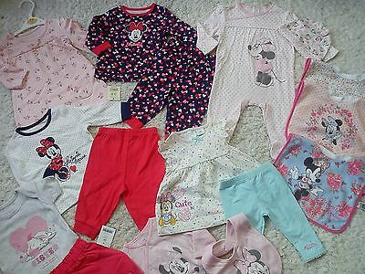 ***AMAZING**38x NEW BUNDLE OUTFITS MINNIE DAISY BABY GIRL 0/3 MTHS 3/6M (2.5)NRH