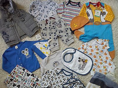 **AMAZING**33x NEW BUNDLE OUTFITS TIGER MICKEY BABY BOY 0/3 MTHS(2.5)