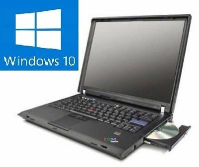 LENOVO IBM THINKPAD T60 LAPTOP NOTEBOOK mit WINDOWS 10 Lizenz / WIN10  Akku ok